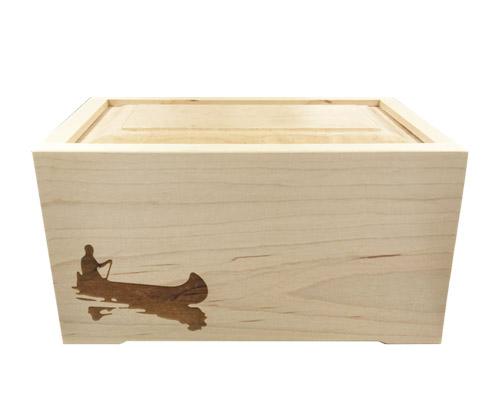 maple wood urn