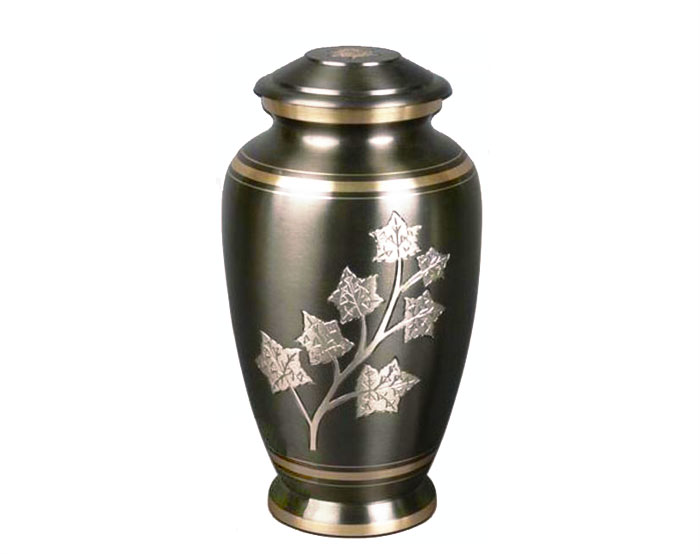 Falling Leaves Metal Urn MU213