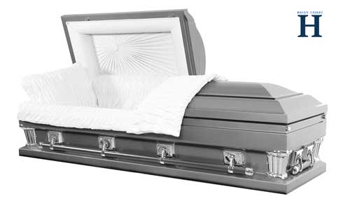 silver casket
