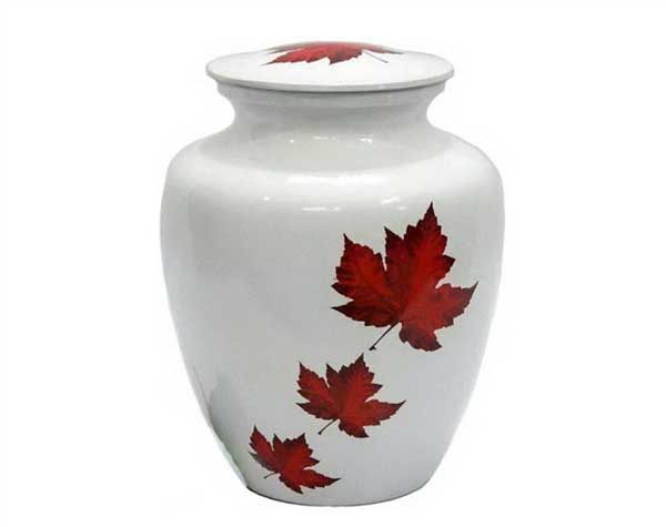 Canada Maple Leafs Metal Urn MU241