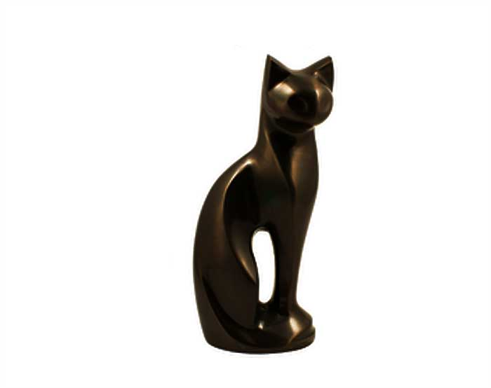 Bronze Cat Metal Urn MU112