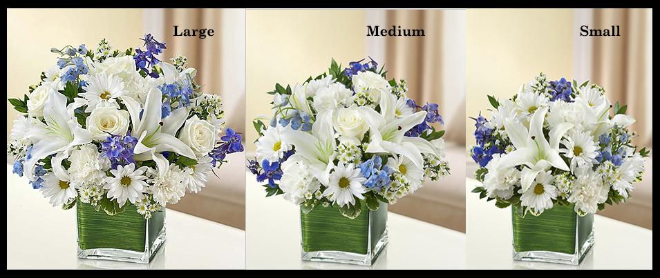 Blue & White Sympathy Vase Arrangement SF104