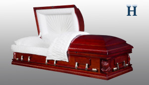 Cherry Wood Casket HW131
