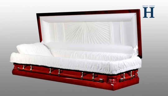 Full Couch Poplar Casket HW204