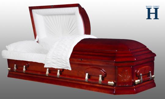 Hamilton Cherry wood casket