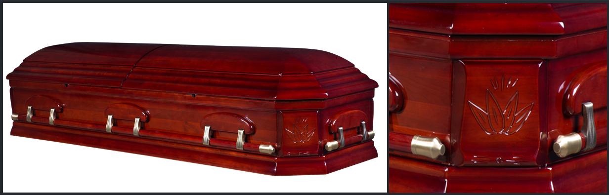 Cherry Wood Casket closed casket HW104