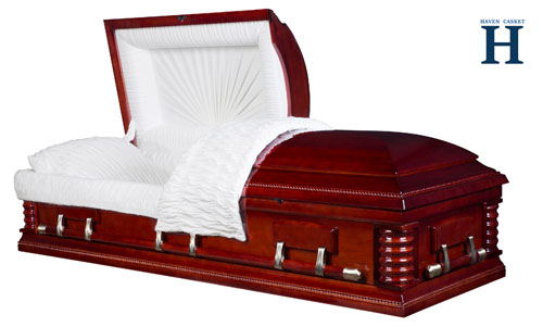 Cherry wood casket HW129