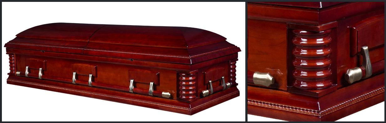 Cherry Wood Casket closed casket HW129
