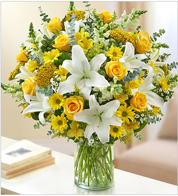 funeral sympathy flowers yellow