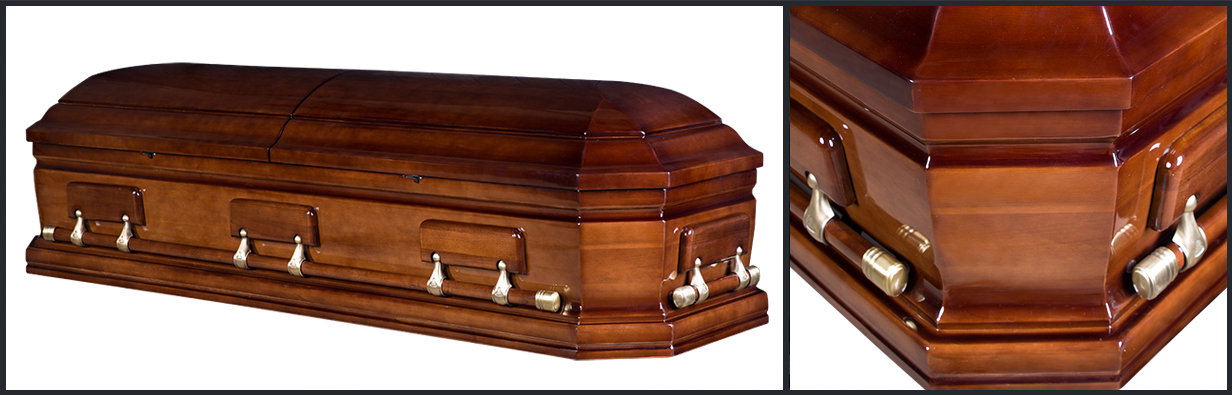 Walnut Wood Casket closed casket HW119