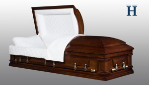 Walnut Wood Casket HW117
