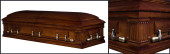 Beloved Walnut wood casket closed casket