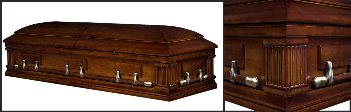 Walnut Wood Casket closed casket HW117