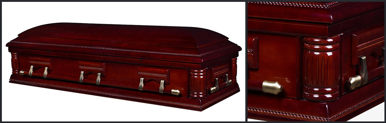 Cherry Wood Casket closed casket HW122