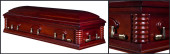 Embassy Cherry wood casket closed casket