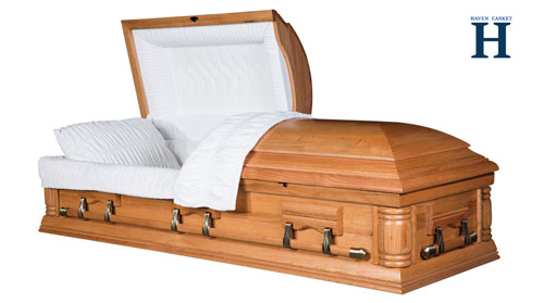 oak wood casket hw114