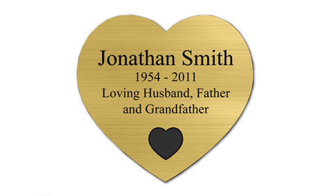 gold heart plate engrave