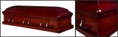 Imperial Mahogany wood casket closed casket