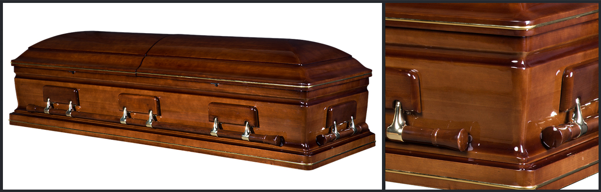 Walnut Wood Casket closed casket HW118