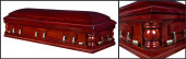 Presidential Cherry wood casket closed casket