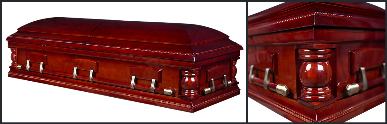 Cherry Wood Casket closed casket HW102