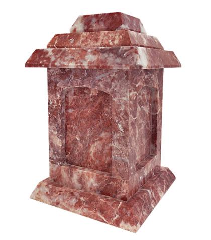 rose marble urn