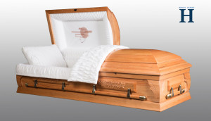 Oak Wood Casket HW111