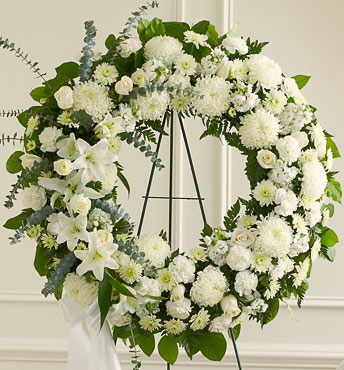 Sympathy wreath for funeral