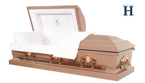pink metal casket mc101