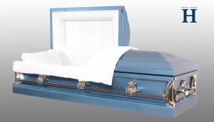 Monarch Blue metal casket MC106