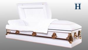 Monarch White metal casket MC107