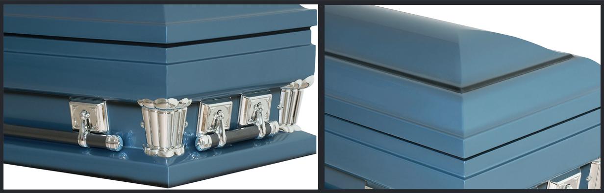 Blue Metal Casket MC109