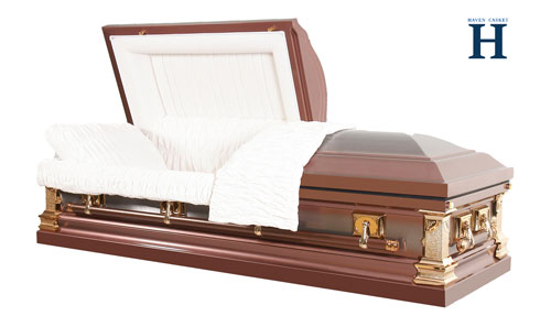 Bronze funeral metal caskets mc104