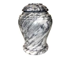 Elegant Grey Marble Urn MAU222