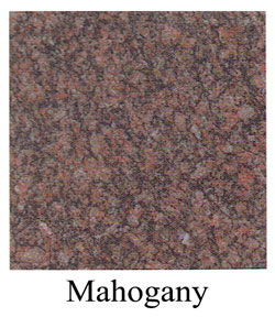 mahogany granite headstones