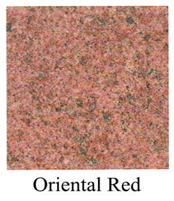 oriental red granite headstones