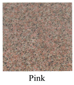 pink granite headstones