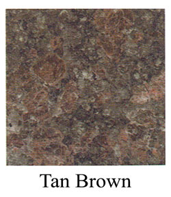 TanBrown granite headstones