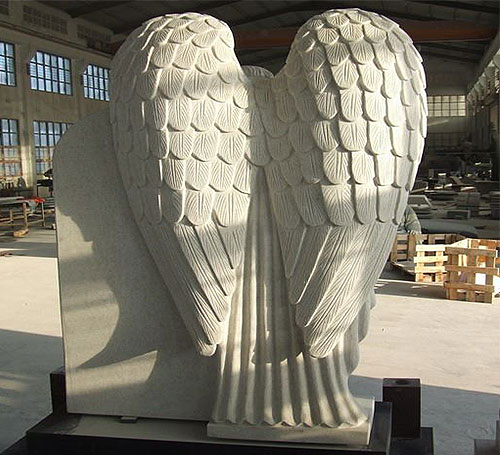 wings of angel headstone