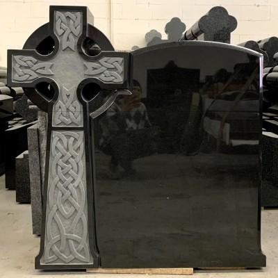 Custom Black Granite Cross