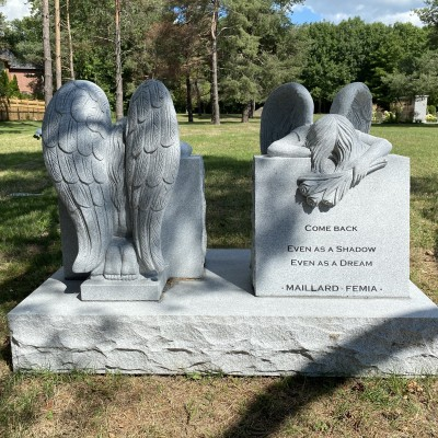 Custom Frosted Grey Granite Angels