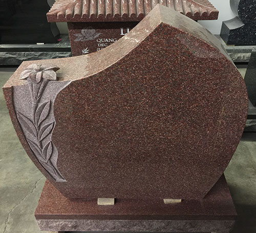 India Red headstone
