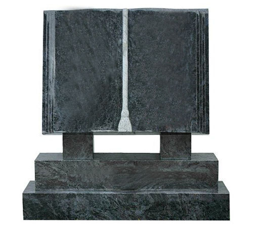 Book of Life Headstone Bahama Blue Granite