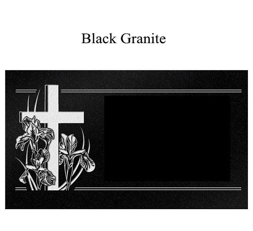 black granite flat marker