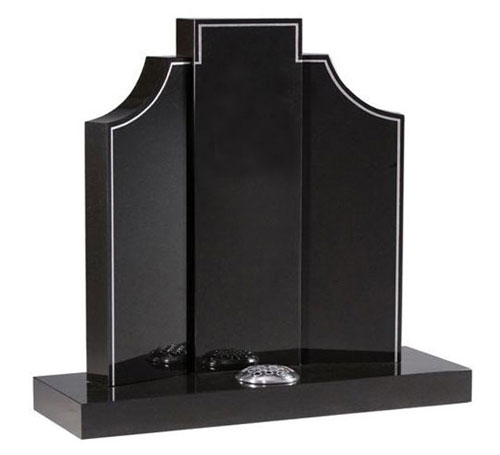 Gates to Heaven Headstone in Black