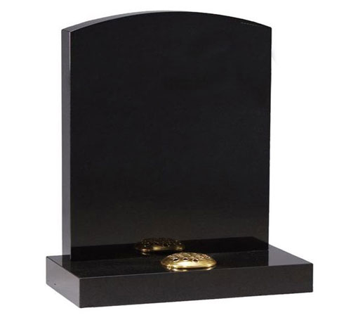 Black Serp Headstone