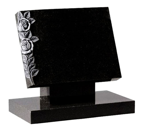 Black Tablet Headstone