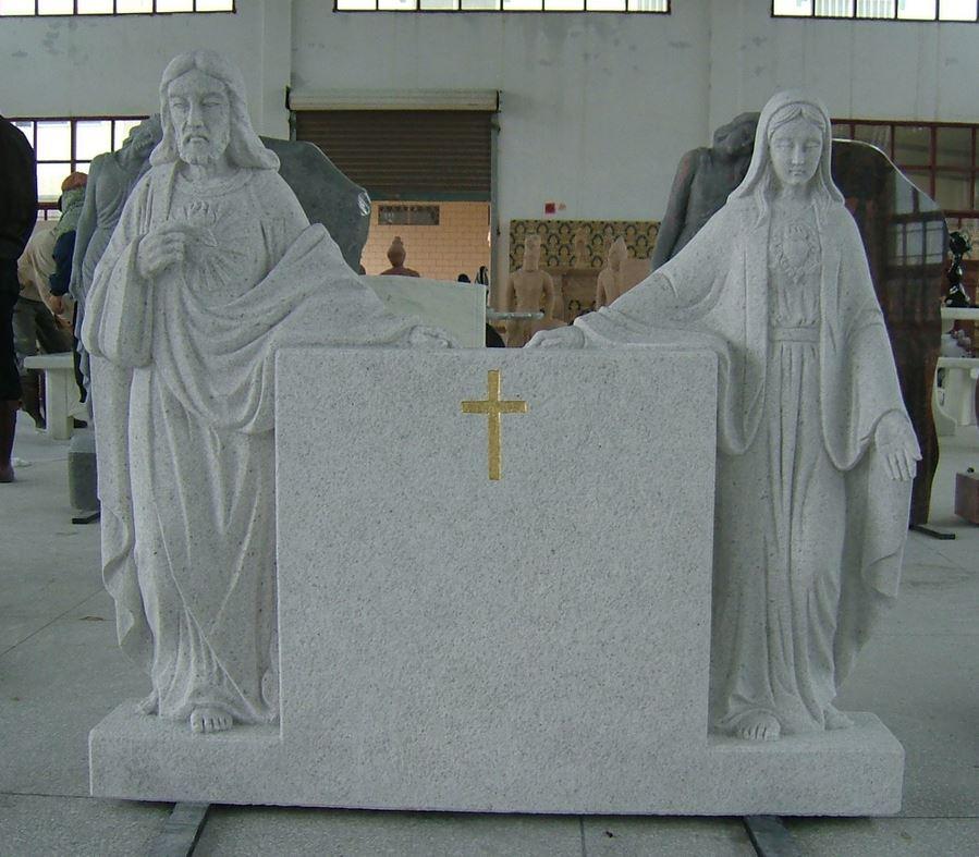 custom monument Mary and Jesus