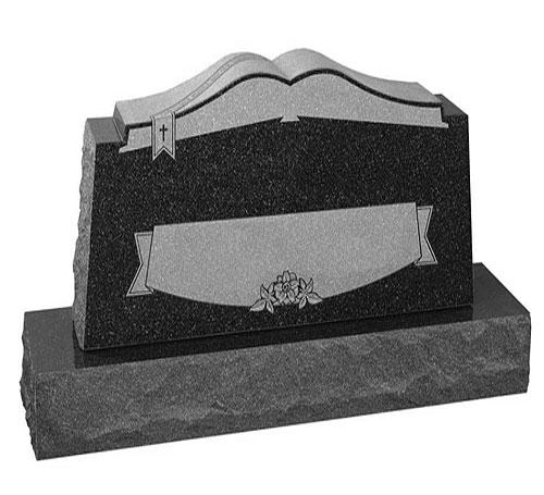 Book Top Headstone