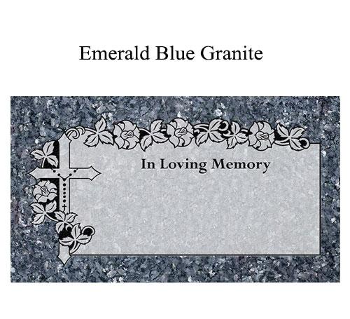 blue pearl granite flat marker